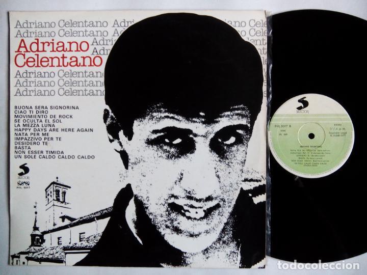 ADRIANO CELENTANO. LP SELECTOR PHL 5017. ESPAÑA 1977. BUENA SERA SIGNORINA. CIAO TI DIRO. (Música - Discos - LP Vinilo - Canción Francesa e Italiana)