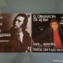 Discos de vinilo: LOTE PACK ESPECIAL FLAMENCO CAMARON Y PACO DE LUCIA - 2 SINGLES ORIGINALES - OPORTUNIDAD!!!!!!. Lote 153564070