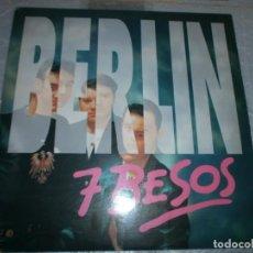 Discos de vinilo: BERLIN - SIETE BESOS DISCO DE VINILO 12''. Lote 153570142