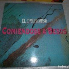 Discos de vinilo: EL COMPROMISO – COMIÉNDOSE A BESOS DISCO DE VINILO 12''. Lote 153570830