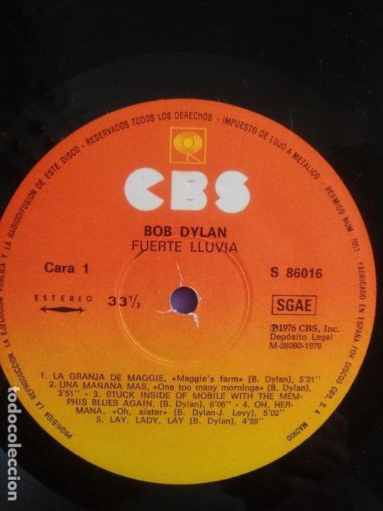 Discos de vinilo: BOB DYLAN - HARD RAIN. LP ORIGINAL SPAIN .S 86016. CBS RECORDS 1976 CON ENCARTE (LETRAS CANCIONES) - Foto 5 - 153592366