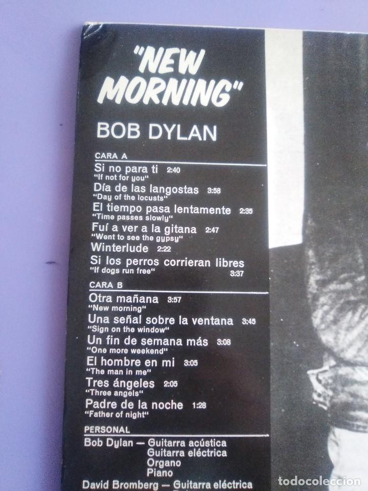 Discos de vinilo: LP. BOB DYLAN - NEW MORNING - CBS 32267 . SPAIN 1883. - Foto 7 - 153593902