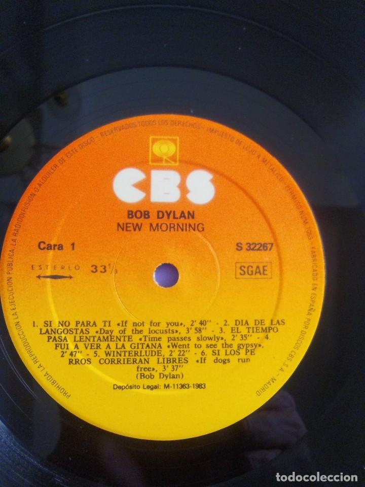 Discos de vinilo: LP. BOB DYLAN - NEW MORNING - CBS 32267 . SPAIN 1883. - Foto 10 - 153593902