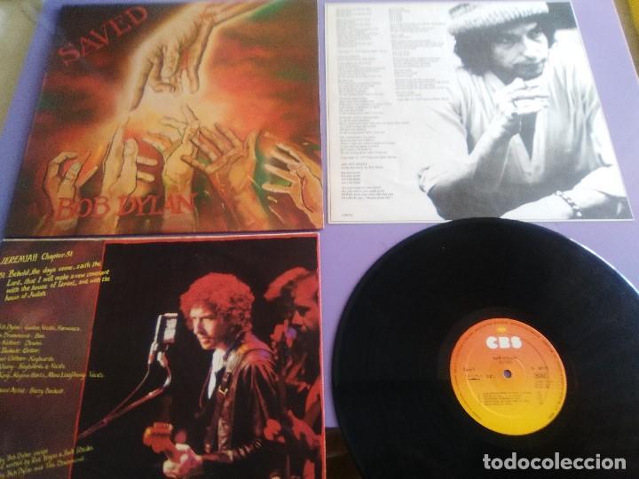LP BOB DYLAN SAVED.SPAIN AÑO 1980. CBS 86113. + ENCARTE + LETRAS. (Música - Discos - LP Vinilo - Pop - Rock Internacional de los 50 y 60)