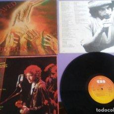 Discos de vinilo: LP BOB DYLAN SAVED.SPAIN AÑO 1980. CBS 86113. + ENCARTE + LETRAS.. Lote 153594586