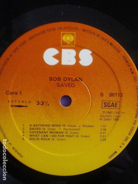 Discos de vinilo: LP BOB DYLAN SAVED.SPAIN AÑO 1980. CBS 86113. + ENCARTE + LETRAS. - Foto 13 - 153594586