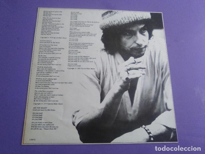 Discos de vinilo: LP BOB DYLAN SAVED.SPAIN AÑO 1980. CBS 86113. + ENCARTE + LETRAS. - Foto 15 - 153594586