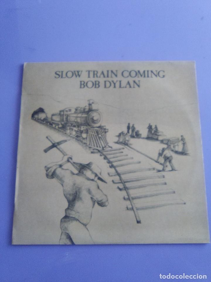 Discos de vinilo: LP BOB DYLAN - SLOW TRAIN COMING .CBS 1979 ORIGINAL SPAIN S 86095 CON ENCARTE. - Foto 2 - 153595178