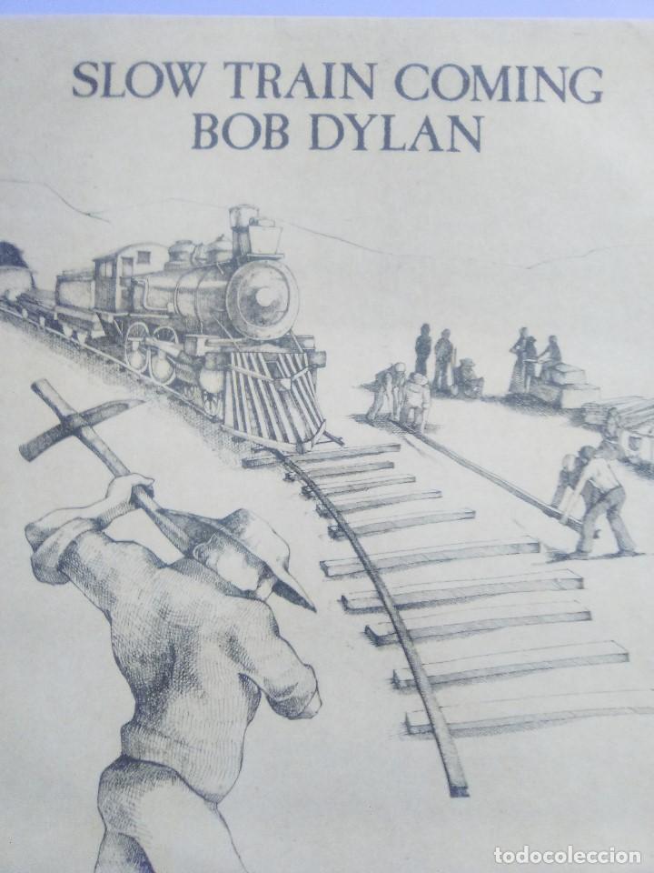 Discos de vinilo: LP BOB DYLAN - SLOW TRAIN COMING .CBS 1979 ORIGINAL SPAIN S 86095 CON ENCARTE. - Foto 3 - 153595178