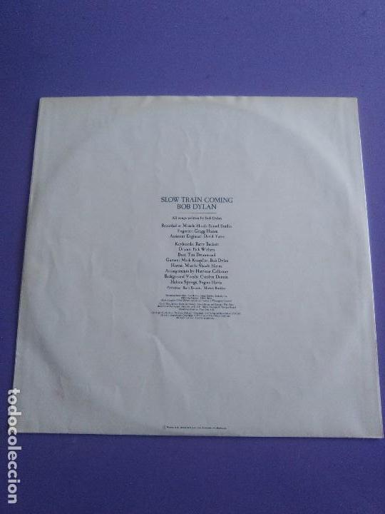 Discos de vinilo: LP BOB DYLAN - SLOW TRAIN COMING .CBS 1979 ORIGINAL SPAIN S 86095 CON ENCARTE. - Foto 5 - 153595178