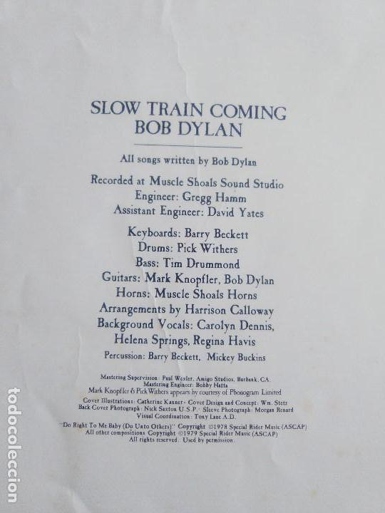 Discos de vinilo: LP BOB DYLAN - SLOW TRAIN COMING .CBS 1979 ORIGINAL SPAIN S 86095 CON ENCARTE. - Foto 6 - 153595178