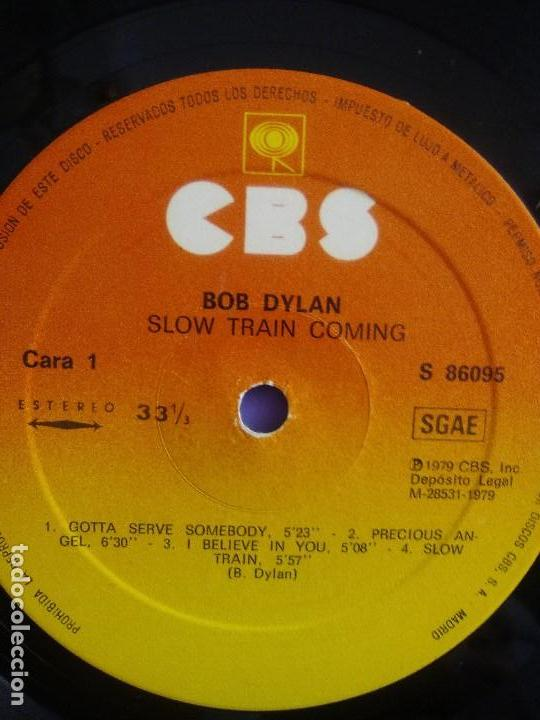Discos de vinilo: LP BOB DYLAN - SLOW TRAIN COMING .CBS 1979 ORIGINAL SPAIN S 86095 CON ENCARTE. - Foto 9 - 153595178