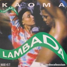 Discos de vinilo: KAOMA - LAMBADA - MAXI-SINGLE SPAIN 1989. Lote 153632166