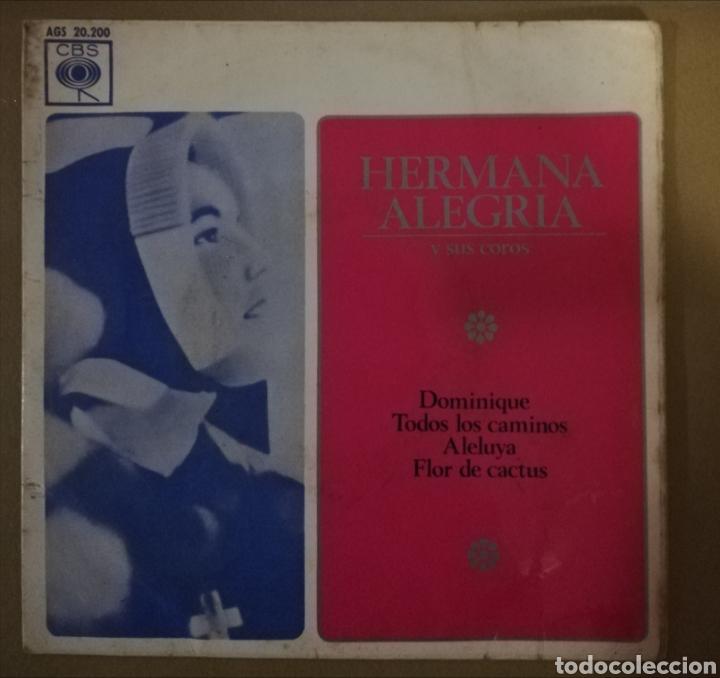 HERMANA ALEGRÍA. DOMINIQUE + 3 (Música - Discos de Vinilo - EPs - Solistas Españoles de los 50 y 60)