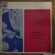 Discos de vinilo: HERMANA ALEGRÍA. DOMINIQUE + 3. Lote 153638704