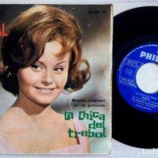 Discos de vinilo: ROCIO DURCAL - BANDA ORIGINAL DE LA PELÍCULA LA CHICA DEL TREBOL - EP 1963 - PHILIPS. Lote 153653998