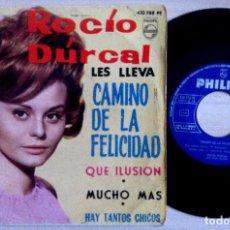 Discos de vinilo: ROCÍO DÚRCAL CON LOS SONOR - LES LLEVA CAMINO DE LA FELICIDAD - EP 1964 - PHILIPS. Lote 153655374