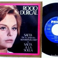 Discos de vinilo: ROCIO DÚRCAL - SAETA DE LA PELÍCULA - ACOMPAÑAME - SINGLE 1966 - PHILIPS. Lote 153662974