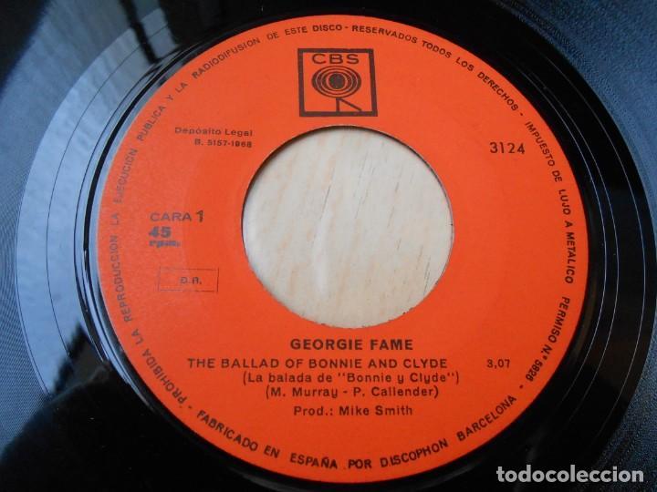 Discos de vinilo: GEORGIE FAME, SG, THE BALLAD OF BONNIE AND CLYDE + 1, AÑO 1968 - Foto 3 - 153676434
