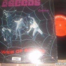 Discos de vinilo: THE SEEDS - A WEB OF SOUND - CRESCENDO 1967 (-1966) OG USA SOLO PORTADA+REGALO VINILO LIVE SEED. Lote 153681378