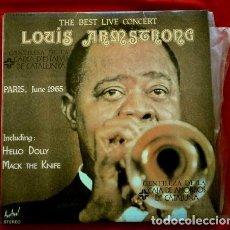 Discos de vinilo: LOUIS ARMSTRONG (LP. 1976) THE BEST LIVE CONCERT PARIS JUNE 1965 (HELLO DOLLY). Lote 153685774