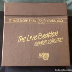 Discos de vinilo: BEATLES - IT WAS MORE THAN 20 YEARS AGO - CAJA - 13 SINGLES - ITALIA - MUY RARA - EXCELENTE. Lote 153693318