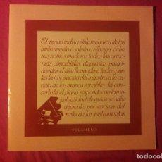 Discos de vinilo: MÚSICA CLÁSICA DE PIANO. Lote 153699562