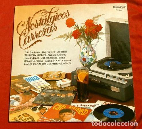 NOSTALGICOS CARROZAS (LP 1981) THE SHADOWS - THE EVERLY BROTHERS - LOS SIREX - THE PLATERS - MINA .. (Música - Discos - LP Vinilo - Pop - Rock Internacional de los 50 y 60)