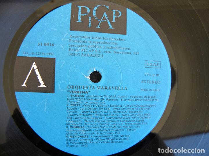 Discos de vinilo: ORQUESTRA MARAVELLA VERBENA -LP 1992 -PICAP - Foto 3 - 153710726