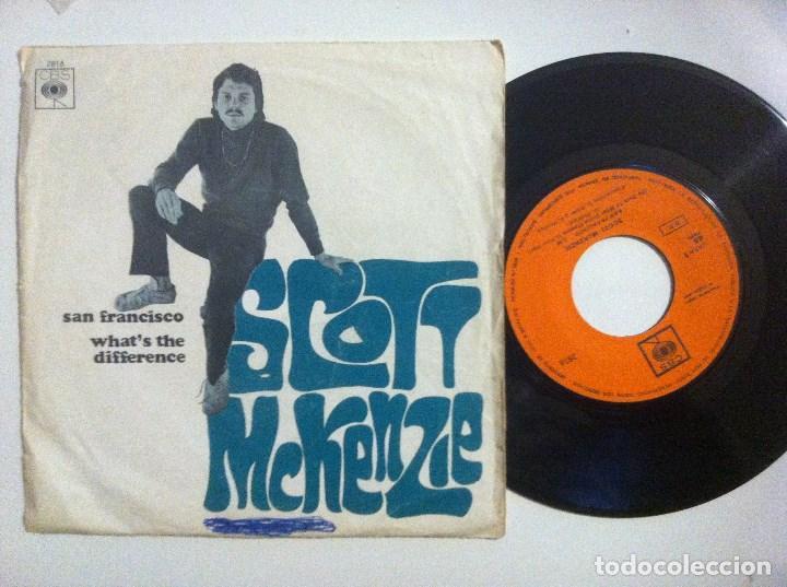 SCOTT MCKENZIE - SAN FRANCISCO / WHAT´S THE DIFFERENCE - SINGLE 1967 - CBS (Música - Discos de Vinilo - Maxi Singles - Grupos Españoles 50 y 60)