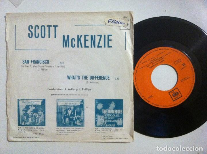Discos de vinilo: SCOTT McKENZIE - san francisco / what´s the difference - SINGLE 1967 - CBS - Foto 2 - 153717974