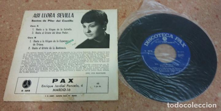 Discos de vinilo: TRES SINGLE VINILO SAETAS AÑOS 60/70 - Foto 2 - 153732130