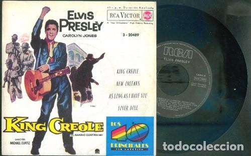 ELVIS PRESLEY KING CREOLE (40 PRINCIPALES) (Música - Discos de Vinilo - EPs - Pop - Rock - New Wave Extranjero de los 80)