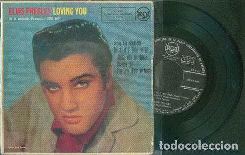 ELVIS PRESLEY LOVING YOU 45 RPM (Música - Discos de Vinilo - EPs - Rock & Roll)