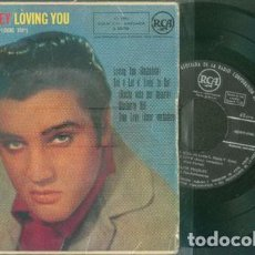 Discos de vinilo: ELVIS PRESLEY LOVING YOU 45 RPM. Lote 153746158