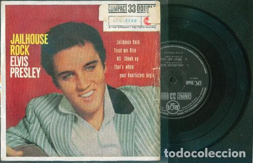 ELVIS PRESLEY JAILHOUSE ROCK 33 RPM (Música - Discos de Vinilo - EPs - Rock & Roll)