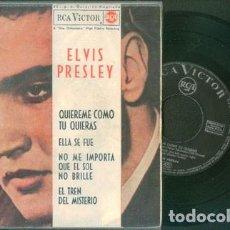 Discos de vinilo: ELVIS PRESLEY QUIEREME COMO TÚ QUIERAS 45 RPM. Lote 153746278