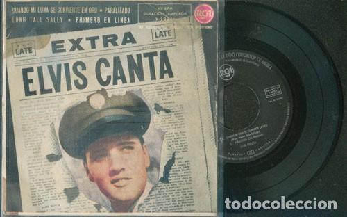 ELVIS PRESLEY ELVIS CANTA 45 RPM (Música - Discos de Vinilo - EPs - Rock & Roll)