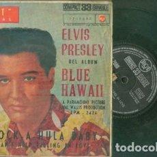 Discos de vinilo: ELVIS PRESLEY ROCK A HULA BABY 33 RPM. Lote 153746462