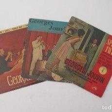 Discos de vinilo: TRES EP DE GEORGES JOUVIN Y SU ORQUESTA. Lote 153758742
