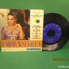 Discos de vinilo: CARMEN SEVILLA. BSO LA GUERRILLERA DE VILLA. CARMEN DE ESPAÑA. Lote 153805014