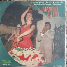 Discos de vinilo: MANOLO DEL RIO EP SELLO EKIPO AÑO 1966. Lote 153807186