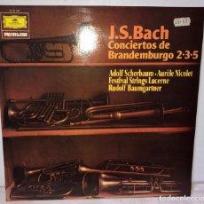 Discos de vinilo: DISCO VINILO J.S. BACH. CONCIERTOS DE BRANDEMBURGO 2-3-5. Lote 153811846