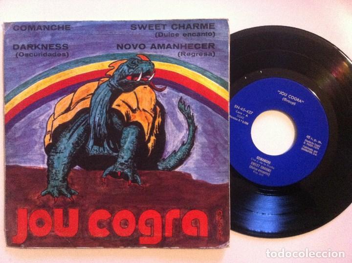 JOU COGRA GROUP - DARKNESS / COMANCHE / NUEVO AMANECER - EP 1974 - BARNAFON (Música - Discos de Vinilo - EPs - Grupos Españoles de los 70 y 80)