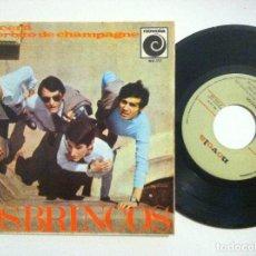 Discos de vinilo: LOS BRINCOS - RENACERA / UN SORBITO DE CHAMPAGNE / GIULIETTA - EP 1966 - NOVOLA. Lote 153831286