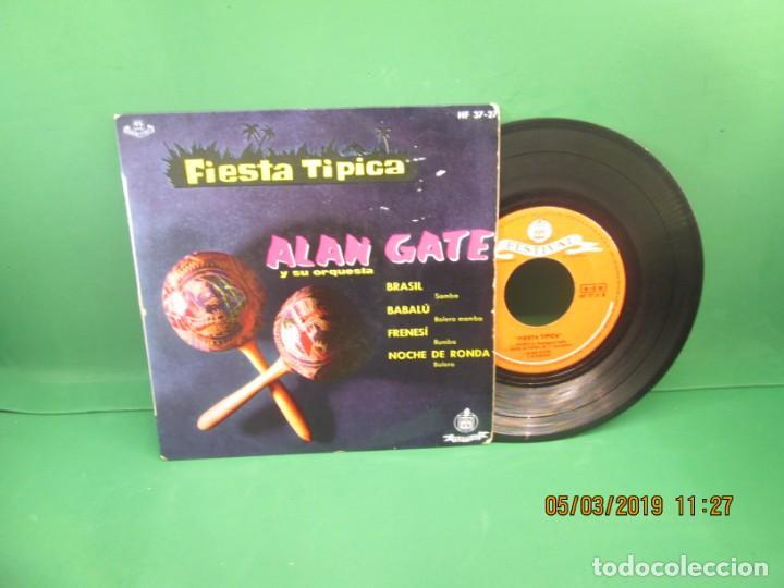 ALAN GATE Y SU ORQUESTA FIESTA TIPICA (Música - Discos de Vinilo - EPs - Jazz, Jazz-Rock, Blues y R&B)