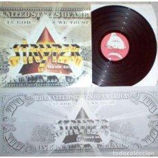 Discos de vinilo: STRYPER-LP IN GOD WE TRUST-ESPAÑOL 1988-ENCARTE LETRAS-A ESTRENAR. Lote 76984741