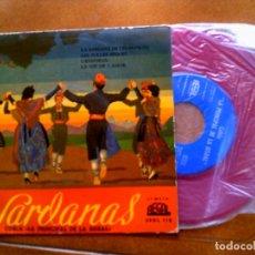 Discos de vinilo: DISCO DE SARDANAS COBLA LA PRINCIPAL DE LA BISBAL AÑO 1959 EDICION EN COLOR. Lote 153855954