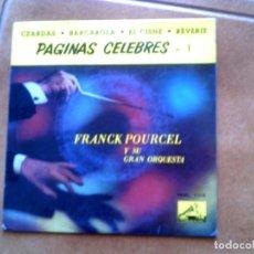 Discos de vinilo: DISCO DE FRANCK POURCEL Y SU ORQUESTA ,PAGINAS CELEBRES N,1 AÑO ,1958. Lote 153858806
