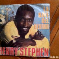 Discos de vinilo: DISCO DE HENRY STEPHEN , SINGLE LA NAVE DEL OLVIDO. Lote 153859282